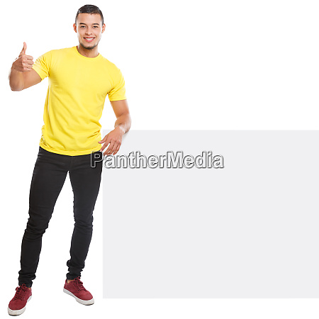 young man success successful copyspace marketing