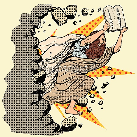 moses with tablets of the covenant