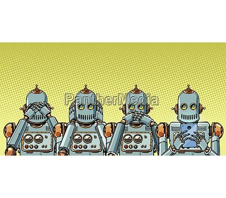 roboter mit telefon internet suchtkonzept nicht
