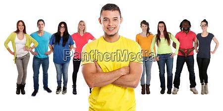 gruppe, von, freunden, jugendliche, isoliert, auf - 26663557