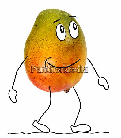 mango mit zeichentrickfiguren