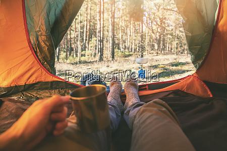 zelt fuesse camping tourismus fernweh outdoor