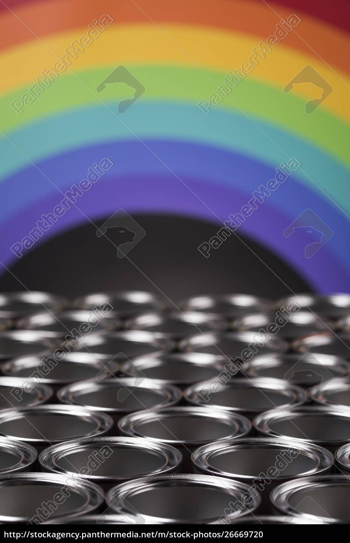 metall, zinn, farbe, dosen, hintergrund - 26669720