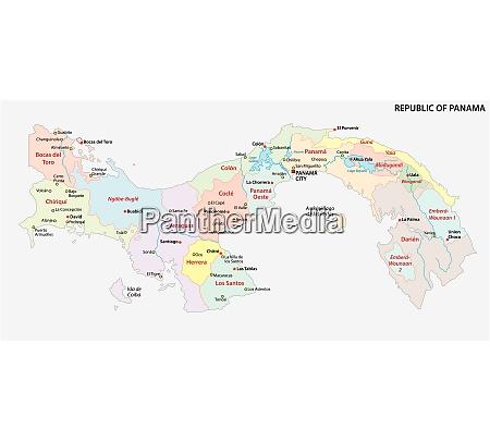 panama administrative und politische vektorkarte