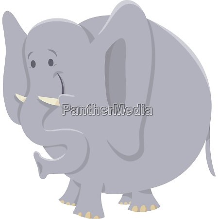 african elephant cartoon animal character