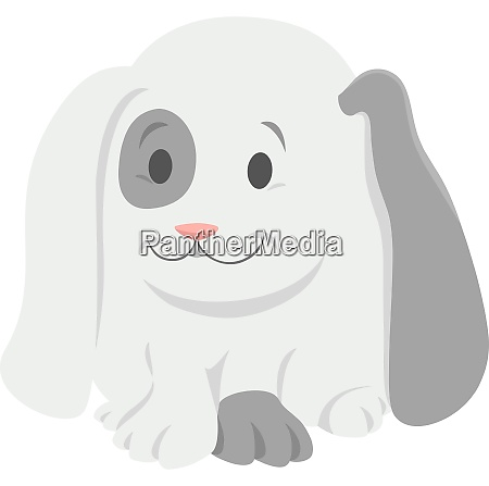 baby rabbit cartoon animal character