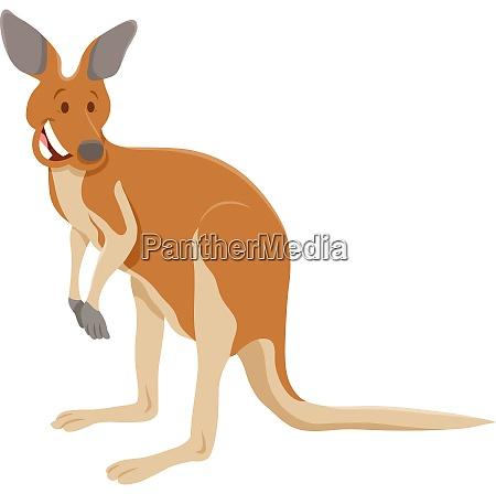 lustige känguru-zeichentrickfigur - lizenzfreies foto
