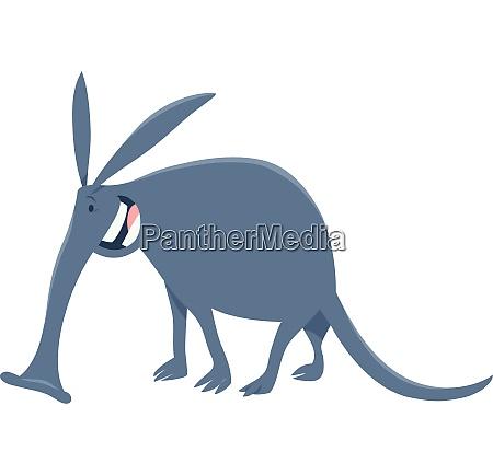 funny aardvark cartoon animal character