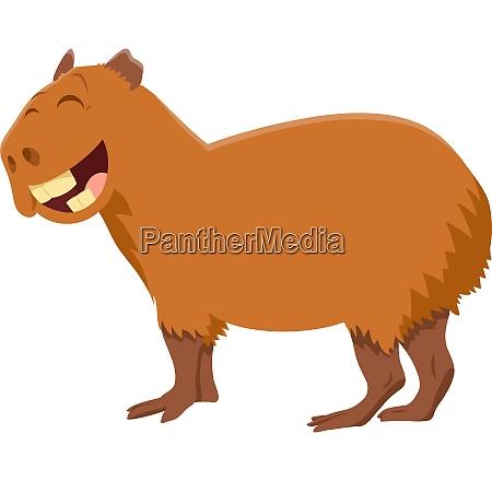 funny capybara cartoon animal character