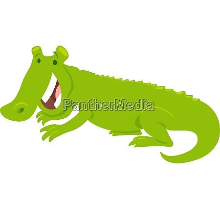 happy crocodile wild animal character