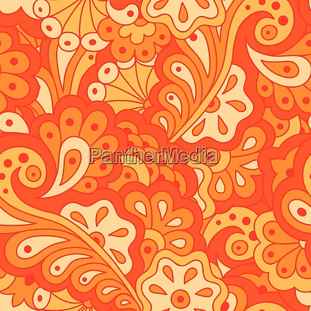 hand drawn seamless pattern with abstract