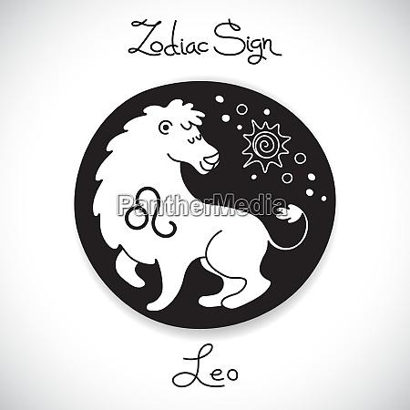 leo zodiac sign of horoscope circle
