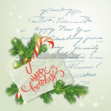 frohe weihnachten und frohe neujahr karte
