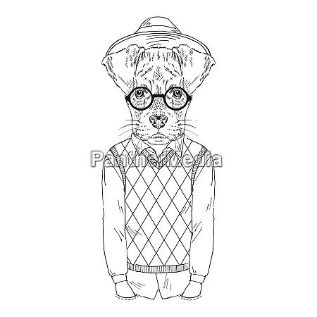 anthropomorphes design hand gezeichnete illustration von