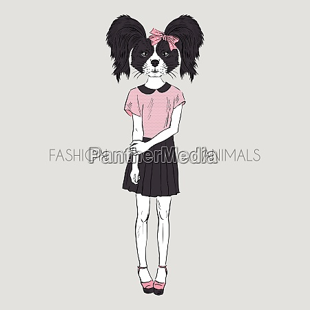 hand drawn fashion illustration of dressed