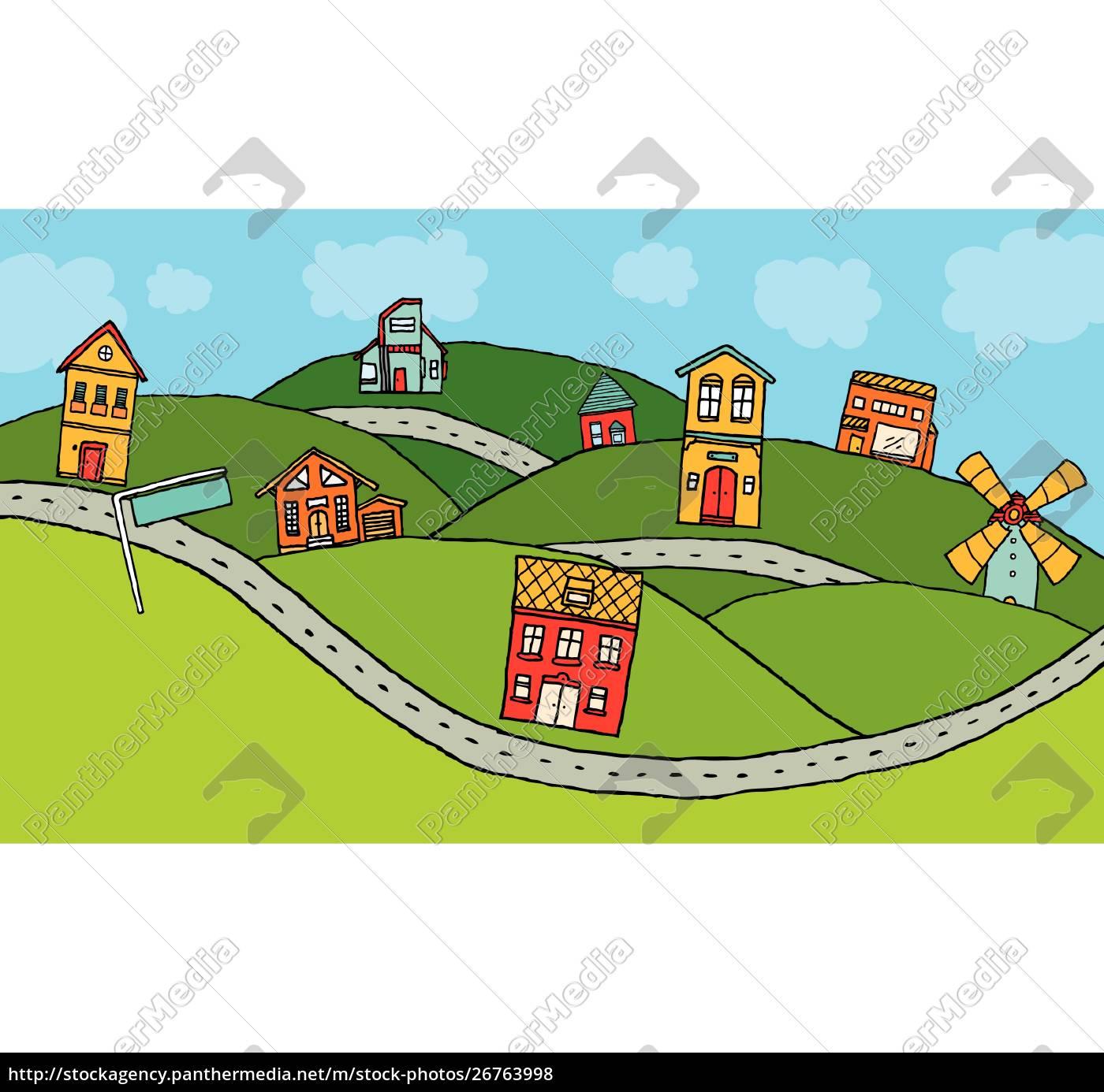 häuser, im, land - 26763998