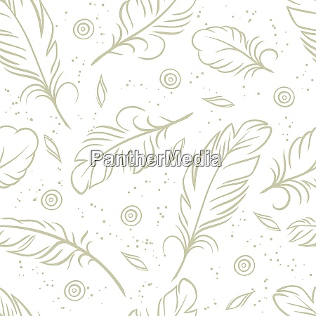 vintage seamless pattern with hand drawn