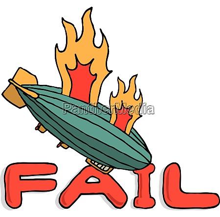 grosser zeppelin scheitert