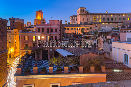 aerial view of old town rome