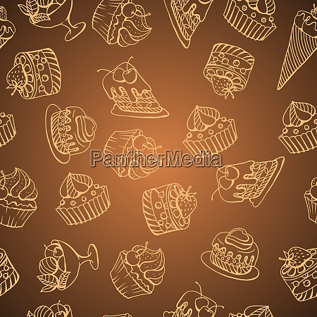 vector background with of cake in