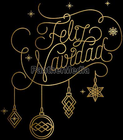 frohe weihnachten UEbersetzung feliz navidad golden