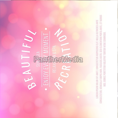 spa lettering over pink bokeh background