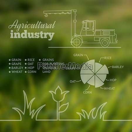 agricultural industry infographic design vector illustration