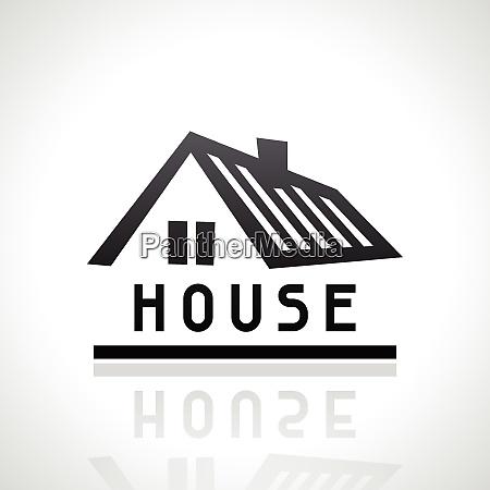 haus logo vorlage immobilienkonzept haus logo