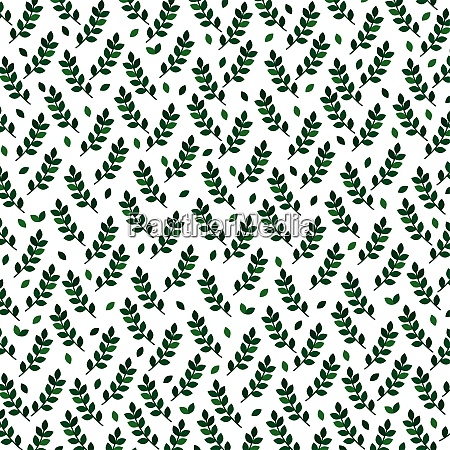 vector background with green branches eps