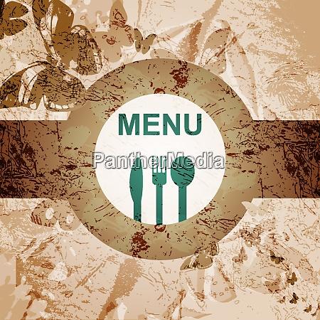restaurant menue design