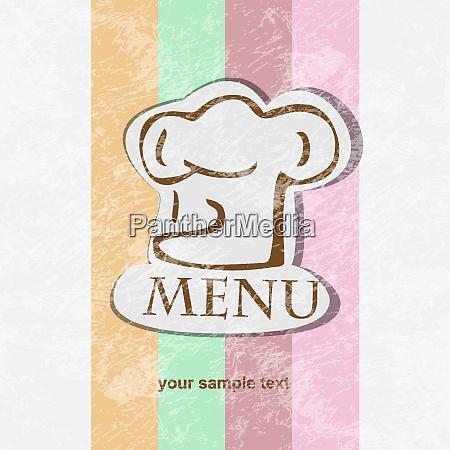 restaurant menue design retro plakat
