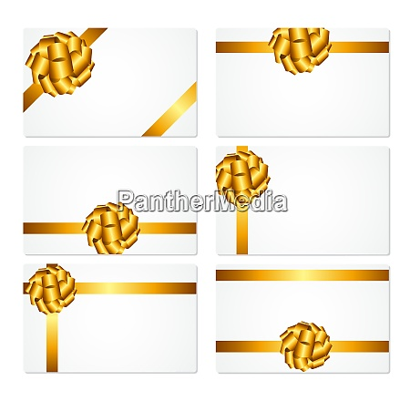 gift card with gold bow and
