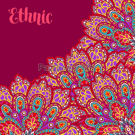 indian ethnic background with hand drawn