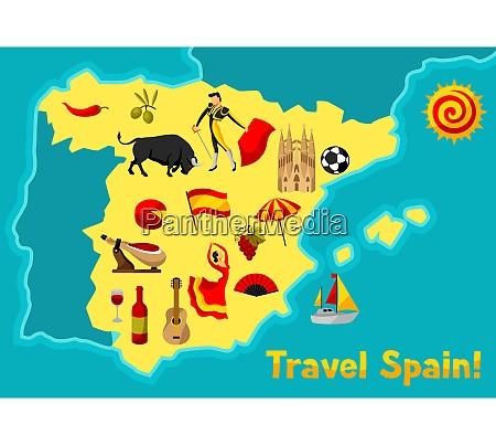 karte von spanien hintergrund design spanische