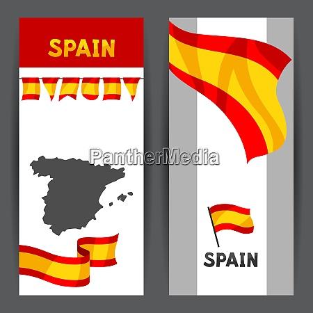 banner mit flagge und karte von