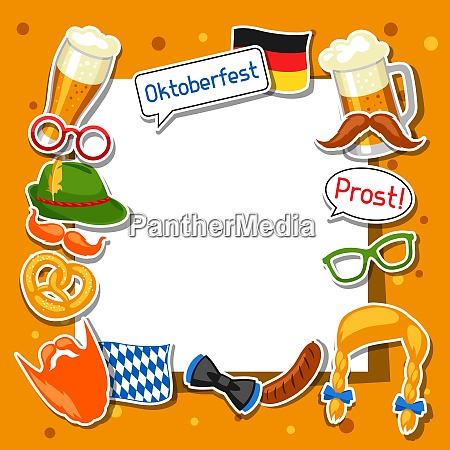 oktoberfest frame with photo booth stickers