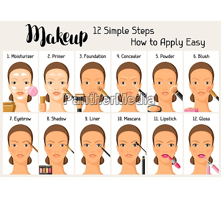 makeup 12 simple steps how to