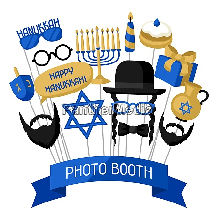 happy hanukkah photo booth props accessories