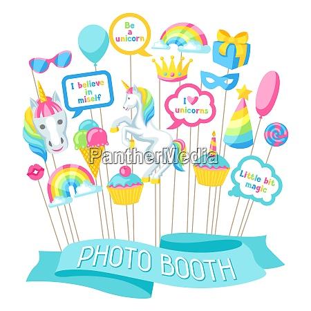 happy birthday photo booth props fantasy