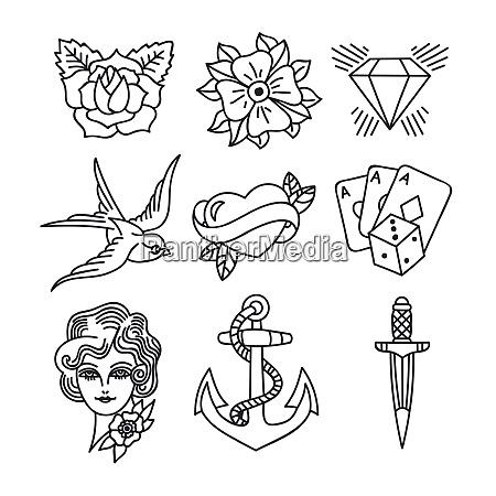 tattoo retro kunst thema tattoo retro