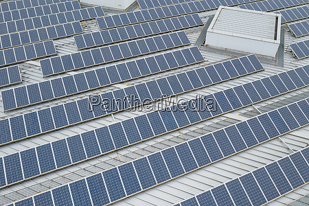 top down view of solar panel