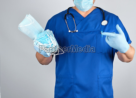 doctor in uniform and in blue