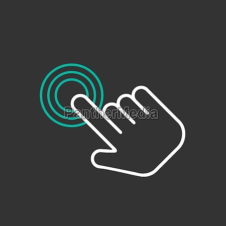 click hand icon click hand