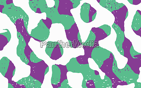 abstract merging green and purple squiggle