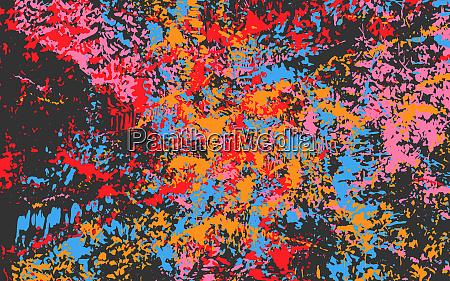 abstrakte vollrahmen chaotisch eisern gespritzt muster