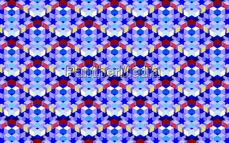 abstract full frame three dimensional grid