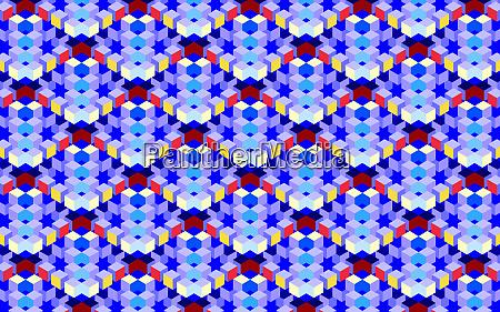 abstraktes dreidimensionales rastermuster mit vollem rahmen