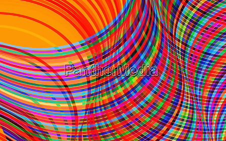 complex crisscrossing multi coloured striped abstract