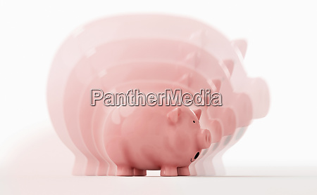 sequenz von sparschwein schrumpft