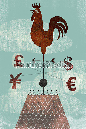 globale finanzwetterfahne